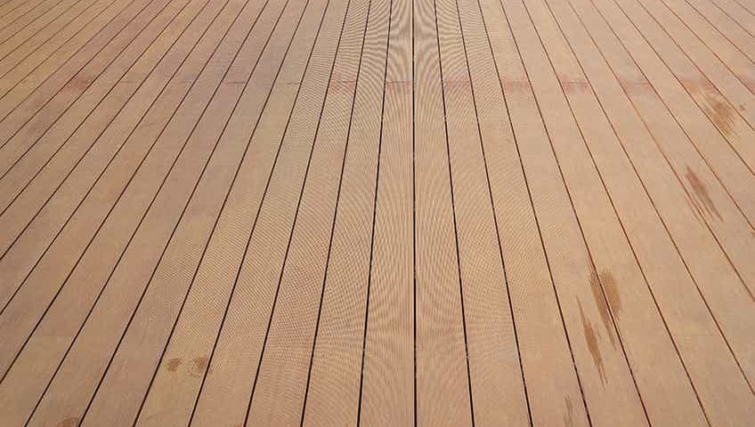 wooden decking cleaned